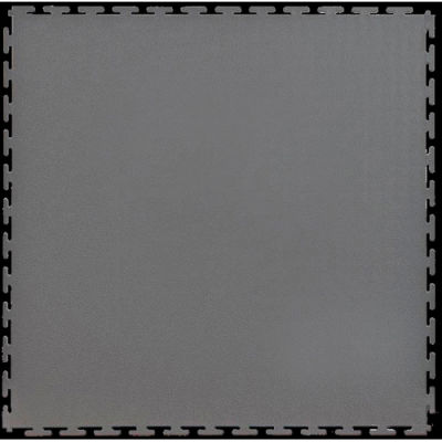 "Lock-Tile® PVC Floor Tiles, SM002D, 19.5x19.5"", Textured, Dark Gray"