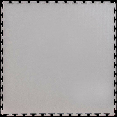 "Lock-Tile® PVC Floor Tiles, SM002L, 19.5x19.5"", Textured, Light Gray"