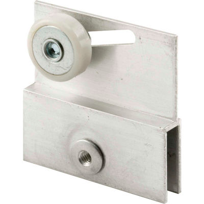 """Prime-Line M 6054 Frameless Sliding Shower Door Top Bracket, 3/4"""", Plastic Wheel, Steel Ball Bearing"""