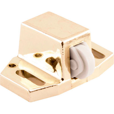 Prime-Line M 6189 Shower Door Catch with Nylon Roller, Gold