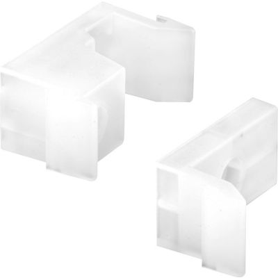 Prime-Line M 6218 Tub Enclosure Guides and Bumpers, White,(Pack of 2)