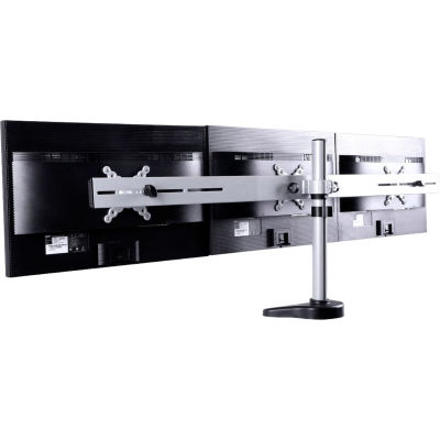"Fleximounts® M15 Triple Arm Desk Monitor Mount For 10""-27"" Monitors, Silver"