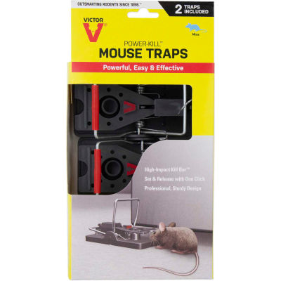 Victor 2-Pack Power-Kill Mouse Snap Trap, 2 Traps/Pack - M392