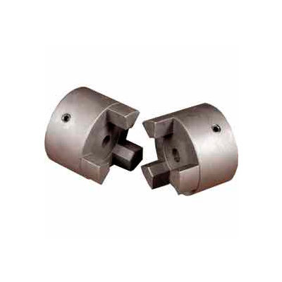 "Cast Iron Jaw Coupling Hub, Style L190, 1 11/16"" Bore Diameter, 3/8 x 3/16 Keyway"