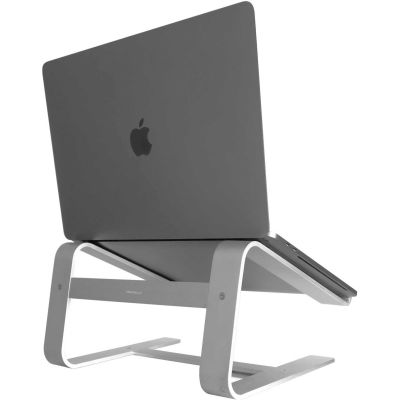 """Macally ASTAND Horizontal Laptop Stand for Laptops & MacBooks Up to 17"""", Aluminum"""