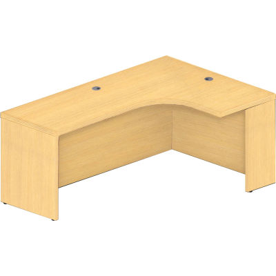 "Safco® Aberdeen 72""W Right Extended Corner Table 72""W x 48""D x 24""H Maple"