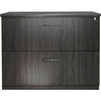 Safco® Medina Series 2 Drawer Lateral File Gray Steel