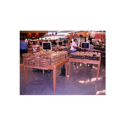 "Flat Bakery Table, 48""L x 48""W x 32-3/4""H, Hardwood, African Limba"