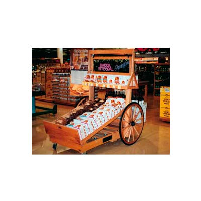 "Retract Cart W/ 32"" Wheels, 78""L x 36""W x 48""H, Hardwood, Opticlear Laquer"