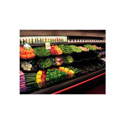 """Curved Front Basket W/O PTM, 16""""L x 21""""W x 2-1/2""""H, Clear Price Tag Molding, Plastic, Black"""