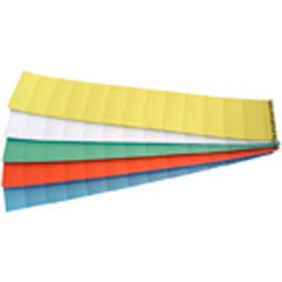 """Magna Visual® Data Cards, 2""""W x 13/16""""H, Assorted Colors, 1000/Pack"""