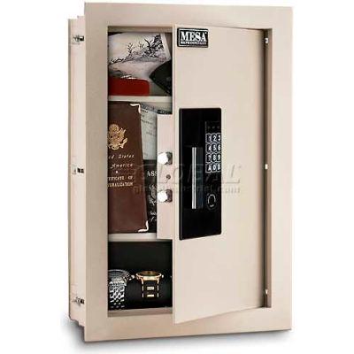 "Mesa Safe Residential Safes Expandable Depth Wall Safe MAWS2113E - 15""W x 3-1/4-6""D x 22-1/8""H"