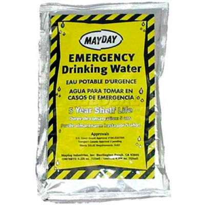 Mayday Water Pouch W/Drinking Container, WA44CS, 100 Pieces