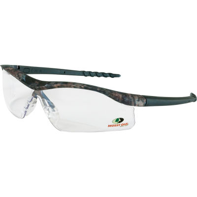 MCR Safety® Mossy Oak® Dallas® MODL110 DL1 Safety Glasses, Camo Frame, Clear Lens
