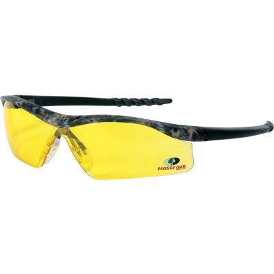 MCR Safety® Mossy Oak® Dallas® MODL114 DL1 Safety Glasses, Camo Frame, Amber Lens