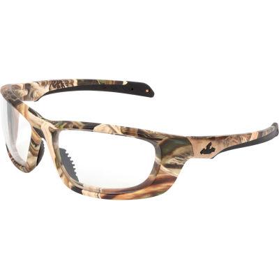 MCR Safety® Mossy Oak® Blades® UD1 Safety Glasses, Camo Frame, Clear Lens, Anti-Fog