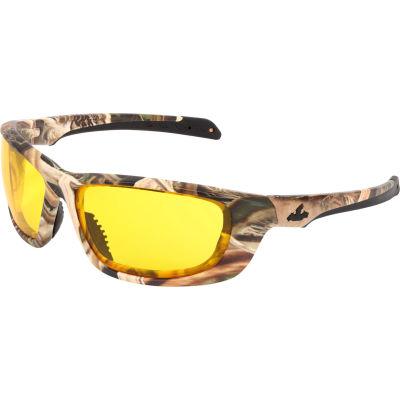 MCR Safety® Mossy Oak® Blades® UD1 Safety Glasses, Camo Frame, Amber Lens, Anti-Fog