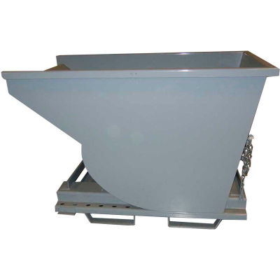 3-Way Forklift Entry Option for Wright™ Self-Dumping Hoppers - Gray