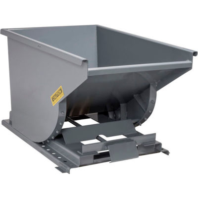 Wright™ 1 Cu. Yd. Self-Dumping Steel Hopper 10055BR with Bump Release - 2000 Lb. Capacity