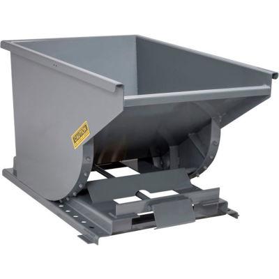 Global Industrial™ 1.5 Cu. Yd. Self-Dumping Steel Hopper with Bump Release - 2000 Lb. Capacity