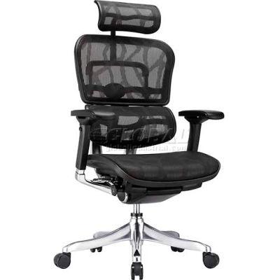 Eurotech Ergo Elite Executive High Back Chair - Black Mesh