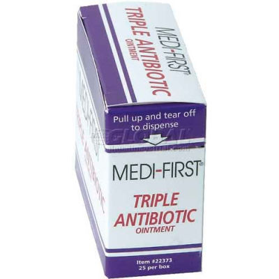 Triple Antibiotic Ointment, 1/57 gm. Packets, 25/Box