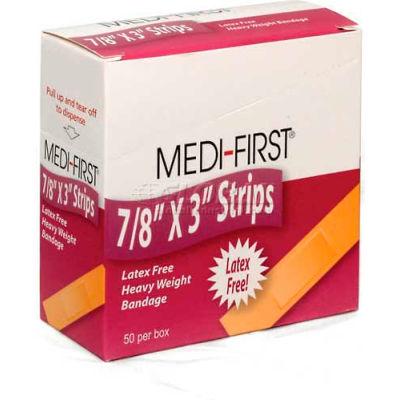 "Flexible Bandage, Extra Heavy Weight, 7/8"" x 3"" Strip, 50/Box"