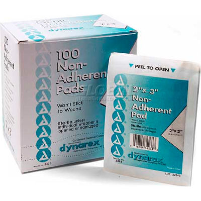"Non-Adherent Sterile Pads, 2"" x 3"" Pad, 100/Box"