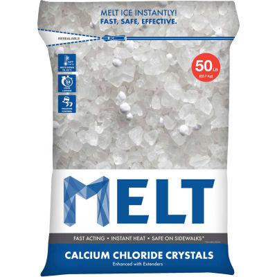 MELT 50 Lb. Bag Calcium Chloride Crystals Ice Melter - MELT50CC