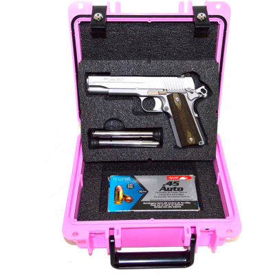 "Quick Fire Multifit™ Pistol Case QF345PKL Watertight, 10-11/16""x9-3/4""x4-13/16"" Pink"