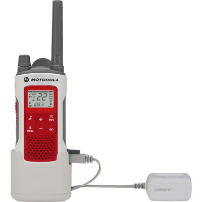 Motorola Talkabout® T480 Emergency Preparedness Two-Way Radio, White/Red