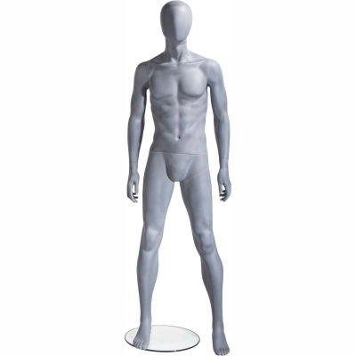 UBM-1 Male Mannequin - Oval Head, Arms at Side, Legs Slightly Bent -Natural Foundry