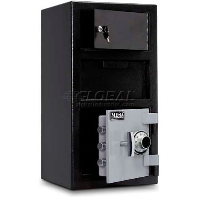 "Mesa Safe B-Rate Depository Safe MFL2014C-OLK Front Loading Combo Lock-Keyed Exterior, 14""x14x27-1/4"