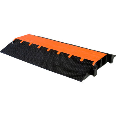 """Elasco MightyGuard 2 Channel Heavy Duty Cable Protector, 3"""" Channel, Orange/Black, MG2300"""
