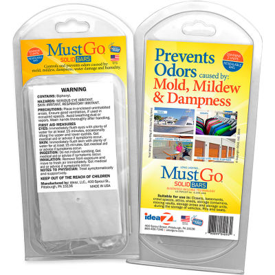 MustGo® Odor Eliminator Solid Bars - 2 Bar Pack - Pkg Qty 24