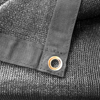 Xtarps, MN-MS90-B1212, 90% Shade Cloth, Shade Tarp, 12'W x 12'L, Black