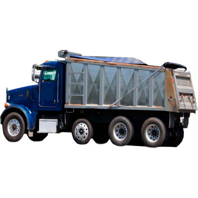 Xtarps, MT-DT-751400, Dump Truck Tarp, Heavy Duty, Industrial Grade, 7.5'W x 14'L, Black