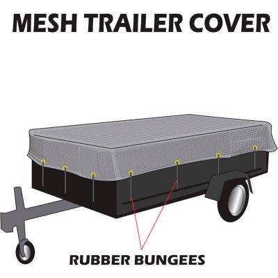 Xtarps, MT-TT-1424, Utility Trailer Mesh Cover, 14'W x 24'L, Black