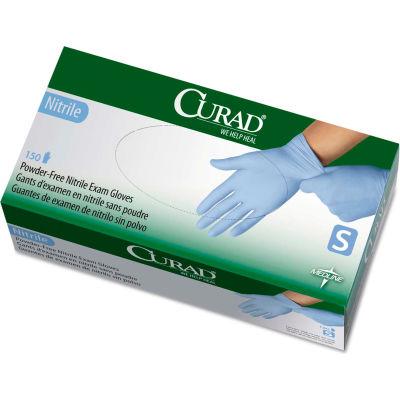 Curad® Medical/Exam Nitrile Gloves, Powder-Free, Small, 150/Box, CUR9314