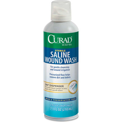 Curad® Sterile Saline Wound Wash, 7.1 oz. Bottle