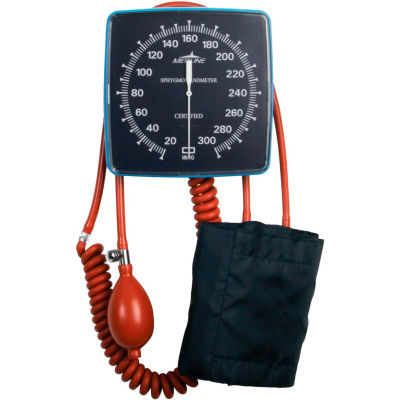 Medline MDS9400LF Wall Mount Aneroid Sphygmomanometer with Adult Cuff