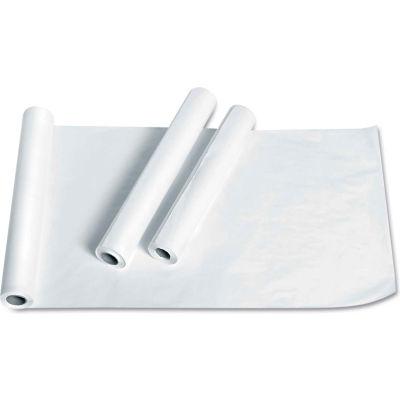 "Medline NON24325 Deluxe Crepe Exam Table Paper, 21""W x 125'L, White, 12 Rolls/Carton"
