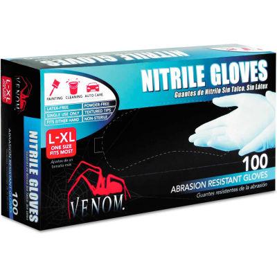 Medline Venom® Medical/Exam Nitrile Gloves, Powder-Free, Blue, L/XL, 100/Box, VEN4145