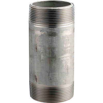 1 In. X 6 In. 304 Stainless Steel Pipe Nipple - 16168 PSI - Sch. 40 - Domestic