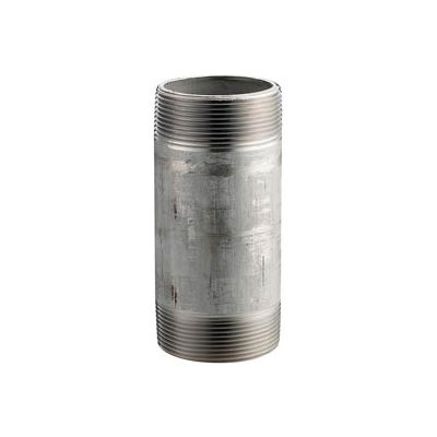 Ss 316/316l Schedule 40 Welded Pipe Nipple 1-1/2x4-1/2 Npt Male - Pkg Qty 10