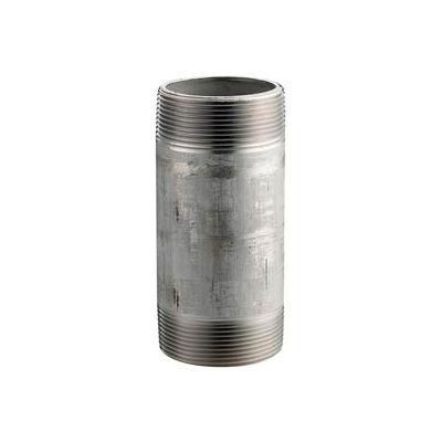 Ss 316/316l Schedule 40 Welded Pipe Nipple 2-1/2x7 Npt Male - Pkg Qty 4