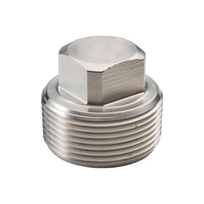"Ss 316 Barstock Square Head Plug 1/4"" Npt Male - Pkg Qty 50"
