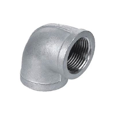 """Iso Ss 304 Cast Pipe Fitting 90 Degree Elbow 1/8"""" Npt Female - Pkg Qty 75"""