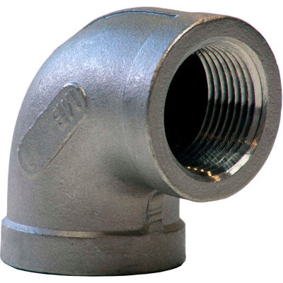 1/2 In. 304 Stainless Steel 90 Degree Elbow - FNPT - Class 150 - 300 PSI - Import