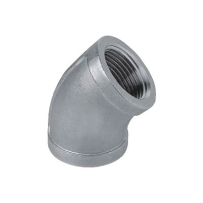 "Iso Ss 304 Cast Pipe Fitting 45 Degree Elbow 4"" Npt Female - Pkg Qty 2"